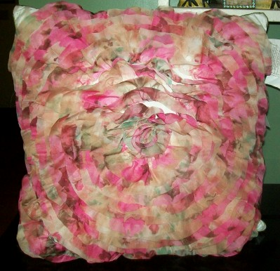 Large Chiffon Throw Pillow Sherbert Colors-chiffon,pillow,shabby,chic,summer,throw