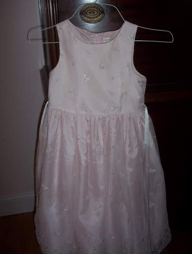 Girls Pink  Boutique Dress Butterflies and Ribbons