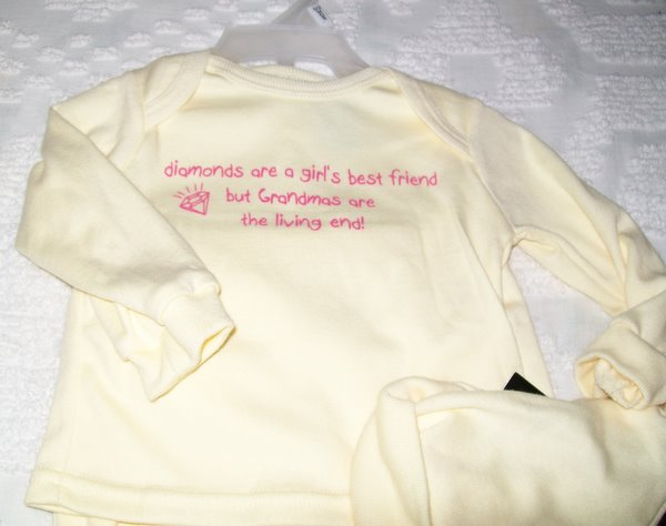 Darling Little Yellow 3 Piece Baby Outfit