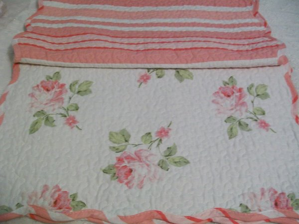 Shabby Chic Reversible Placemats-shabby,cottage,chic,roses,reversible,quilted