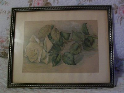 Vintage Yellow Rose Watercolor Painting-watercolor,yellow,rose,painting,vintage