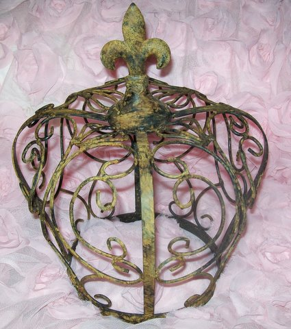 Rusty Chic Metal French Crown Vintage Inspired