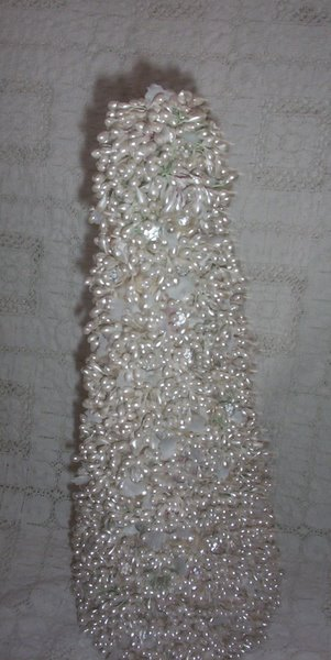 Shabby Beaded Christmas Tree-Christmas,tree,pearls,crystals